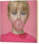 Bubble Gum Pink Wood Print
