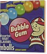 Bubble Gum Wood Print