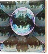 Bubble Illusion Catus 1 No 1 Wood Print