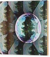 Bubble Illusion Catus 1 No 1 V Wood Print