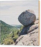 Bubble Rock Acadia National Park Maine Wood Print