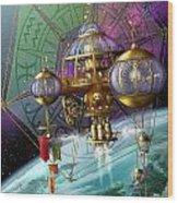 Bubble Telescope Wood Print