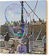 Bubbles Big Ben Wood Print