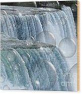 Bubbles Over Niagara Falls Wood Print