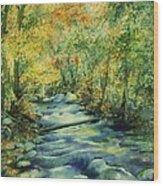 Bubbling Brook Wood Print
