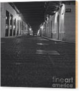 Bucaramanga Colombia  Street  Colonial Street Black And White Photography Wood Print