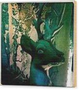 Buck A Deer Wood Print
