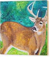 Buck Deer Wood Print