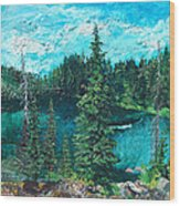 Buck Lake Wood Print