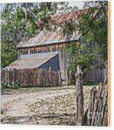 Buck Ranch Barn Wood Print