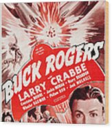 Buck Rogers, Bottom Larry Crabbe Wood Print