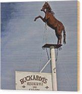 Buckaroo's Saloon Wood Print