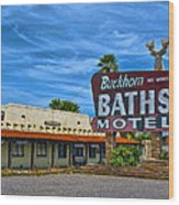 Buckhorn Baths Motel Wood Print