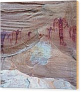 Buckhorn Wash Barrier Canyon Style Pictographs  Wood Print