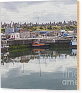 Buckie Harbour Wood Print