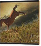 Bucking Horse Wood Print