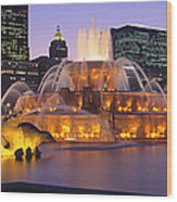 Buckingham Fountain, Chicago, Illinois Wood Print