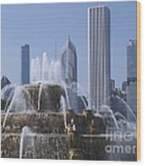 Buckingham Fountain Revisited Wood Print