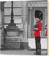 Buckingham Palace Guards Wood Print