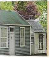 Buckingham Street Cottages Wood Print