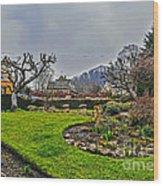 Buckland Garden Wood Print