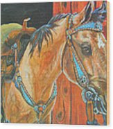 Buckskin Filly Wood Print by Jenn Cunningham