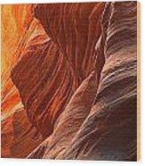 Buckskin Gulch Slot Canyon Fire Wood Print