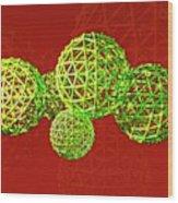 Buckyball Molecules Wood Print