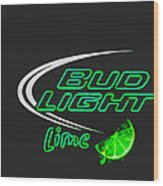 Bud Light Lime 2 Wood Print