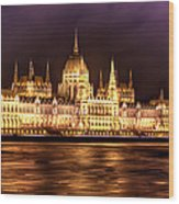 Buda Parliament  Wood Print