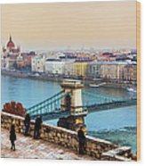 Budapest - Hungarian Pastels Wood Print