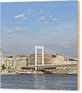 Budapest Skyline Wood Print