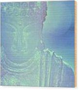 Buddah Bokeh Wood Print