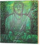 Budda's Garden Wood Print