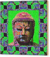 Buddha Abstract Window 20130130m180 Wood Print