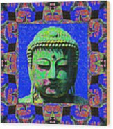 Buddha Abstract Window 20130130m68 Wood Print by Wingsdomain Art and Photography