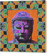 Buddha Abstract Window 20130130p85 Wood Print by Wingsdomain Art and Photography