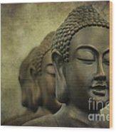 Buddha Bronze Wood Print