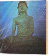 Buddha Cosmic Mind Wood Print