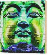 Buddha Wood Print by Daniel Janda