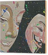Buddha Fawkes Wood Print by Kyle Willis