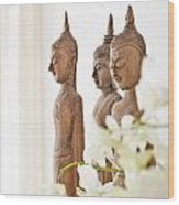 Buddha Figurine  Wood Print