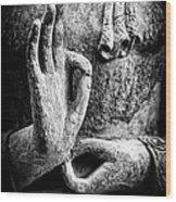 Buddha Hand Mudra Wood Print by Tim Gainey