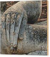 Buddha Hand Thailand Wood Print