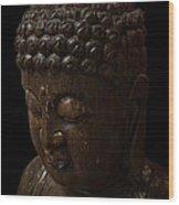 Buddha In The Dark Wood Print