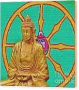 Buddha In The Grove Wood Print
