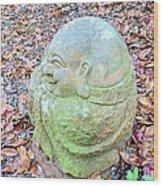 Buddha Looking Left Wood Print