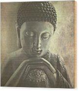 Buddha Wood Print by Madeleine Forsberg