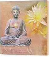 Buddha Of Compassion Wood Print