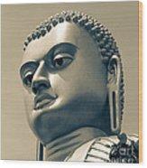 Buddha On Top Of Golden Temple Of Dambulla Wood Print